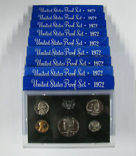(10) 1972 S Proof Sets Ogp Total Of 50 Proof Coins Kennedy Lincoln Jefferson Fdr