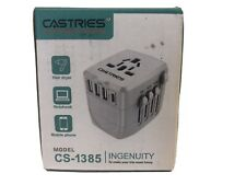 Castries Universal Travel Adapter,2000W International Power Adapter w Dual Fuse