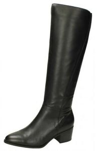 Femmes Leather Collection Mi Chucky Talon Haut Jambe Leather Bottes F5R1125