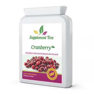 Cranberry 5000mg 90 Tablets; Cystitis Urinary Tract Health Bladder Support Pills