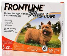 Frontline Plus For Dogs 5 To 22 lbs, Orange 6 Tubes