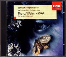 WELSER-MÖST Franz SCHMIDT Symphony No.4 Husarenlied variations EMI CD