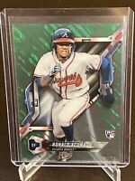 2018 Topps High Tek Ronald Acuna Jr. Rookie Card Atlanta Braves SP RC /99 Green