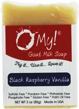 Goat Milk Soap Bar, O MY!, 3 oz Black Raspberry Vanilla