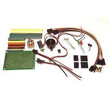 Emergency Bag of Electronics Parts  -  Voltage tester, PCB, Heatshrink, Buzzer