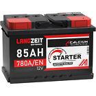 Autobatterie 85Ah 12V Starterbatterie Auto Batterie ersetzt 74Ah 75Ah 77Ah 80Ah