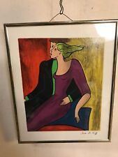 "Linda Le Kinff Serigraph Signed & Framed 9""X11"".See9 pix4size/details.MAKE OFFER"
