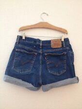 Levis Cut Offs High Waist Shorts VINTAGE W 32 Sz 12 denim jean Festival Stretch