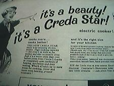 newspaper folded advert 1956 creda electric cooker