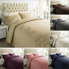 Hotel 250TC 100% Egyptian Cotton Satin Stripe Duvet Quilt Cover Bedding Set
