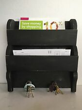 Primitive Country Farmhouse Mail Box Key Holder/Spice Rack/Kitchen Organizer
