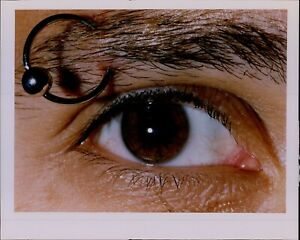 LG881 '93 Original Candace Barbot Color Photo EYEBROW PIERCING Body Modification