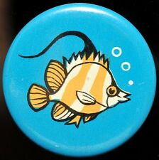 Fish , Vintage Soviet Russian Cartoon Pin Badge