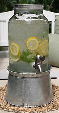 Drink Dispenser Mason Jar Glass Server Water Beverage Juice Jar Homewares NEW