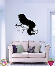 Wall Stickers Vinyl Decal Hair Style Barber Salon Spa Fashion woman z1086