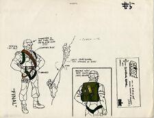 G.I. Joe Ambush Climbing Gear Model Cel Art  80-90's Cartoon Dic Animation City