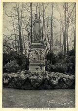 Denkmal der Königin Luise im Berliner Tiergarten *  Bilddokument von 1911
