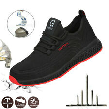 New Women Men Lightweight Safety Shoes Steel Toe Cap Work Hiking Boots Trainers