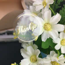200PCS Gold Clear Thank you Labels stickers Gift Party Decorating Supply