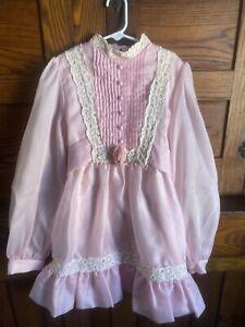Vintage Girls Party Dress Sheer