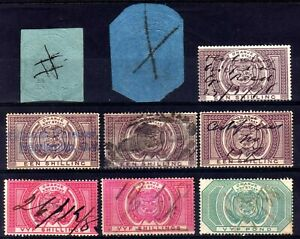 ORANGE FREE STATE REVENUES USED SELECTION, 9 STAMPS