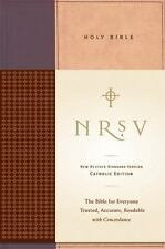 NRSV Standard Catholic Ed Bible Anglicized (Tan/Red) by Harper Bibles
