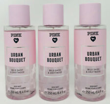3 VICTORIA'S SECRET PINK URBAN BOUQUET FRAGRANCE MIST BODY PERFUME  SPRAY 8.4 OZ