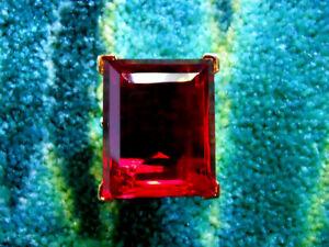 Kenneth Jay Lane Large Gold Crystal Ruby Adjustable Ring 5 - 9