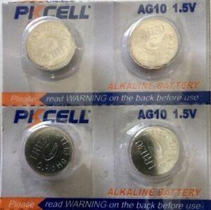 4 PKCELL LR1130 AG10 189 L1131 389 V10GA 1.5 V BATTERY