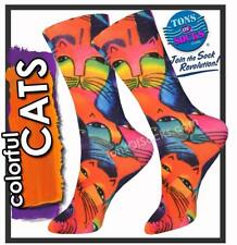 Laurel Burch Women's Colorful Cats Socks