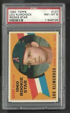 1960 Topps Lou Klimchock #137 - Rookie Card PSA 8 NM-MT