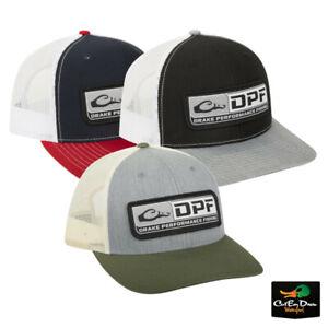 NEW DRAKE PERFORMANCE FISHING DPF LOGO MESH BACK BALL CAP SNAP BACK HAT