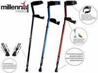 "FOREARM CRUTCH IN MOTION PRO 350lb,  - Adjustable Heights 3'6"" To 6'3"""