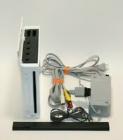 Nintendo Wii Gaming Console Sensor +Cords Gamecube Compatible White RVL-001(USA)