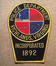 VA Richlands Virginia Police Patch