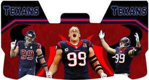 Custom Houston Texans J.J. Watt Football Helmet Visor, W/ Unbranded Clips