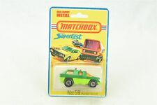 Matchbox Superfast #59 Planet Scout Green NOC New On Card
