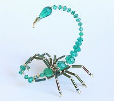 Beaded Green Crystal Scorpion - Ornament / Christmas Tree Decoration