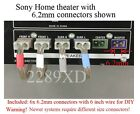 6c 6.2mm connectors made for Sony DAV-C450/C700/C770/C990/DX150/DX170/DX250 HT