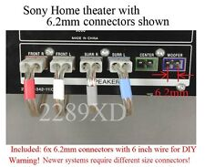 6c 6.2mm connectors made for Sony Dav-C450/C700/C770/C990/D x150/Dx170/Dx250 Ht