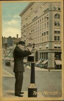 New York City Humor Man Mailing Letter TO MY MARIUTCH c1910 Postcard
