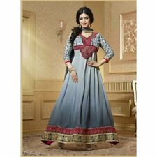 georgette grey colored salwar kameez - 15003