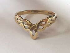 GC 375 9ct Yellow Gold Celtic Ring - 1.2g - Size M