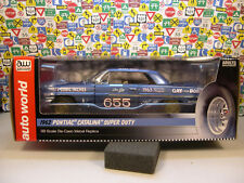 BLUE 1962 PONTIAC SUPER DUTY CATALINA DRAG CAR AUTO WORLD 1:18 DIECAST MODEL CAR