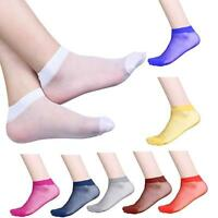 10 Pairs Ultra-thin Elastic Silky Short Silk Stockings Women Ladies Ankle Socks