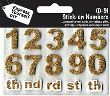 Numéros 0-9 GOLD DIY Carte de vœux Toppers personnaliser cartes vous exprimer