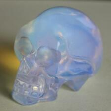 g2901  40mm  Hand carved white opalite skull figurine carving