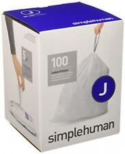 simplehuman Code J Custom Fit Liners Tall Kitchen Drawstring Trash Bags 30-45L