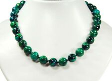 Beautiful Necklace In Chrysocolla (Synthetic) Round D-12mm