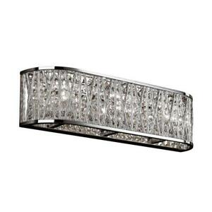 Loretta 3-Light Polished Chrome Bath Vanity-Light